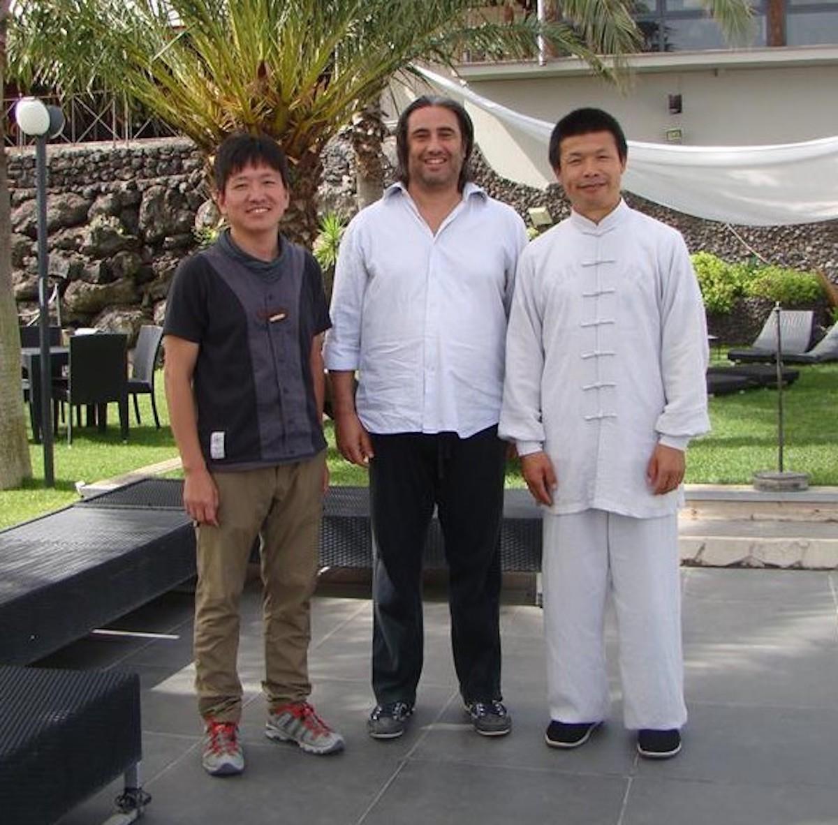 foto con maestri cinesi